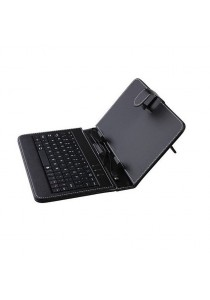 Casing with Keyboard for 7 inch Tablets - Leather Flip Case Stand (Micro USB)