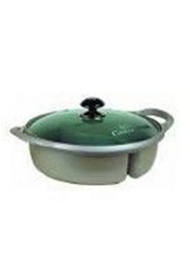 Cast Aluminium Steamboat Pot with Glass Lid 28cm