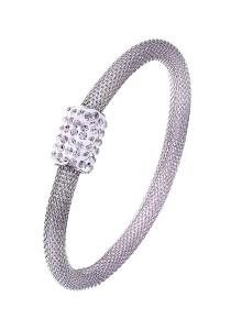 Caron Boutique Geez Mesh Silver Bracelet