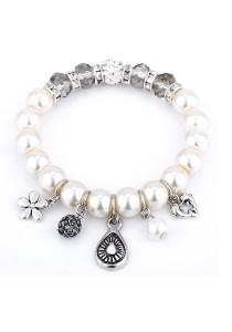 Caron Boutique Swarovski Pearl & Rhinestones Bracelet