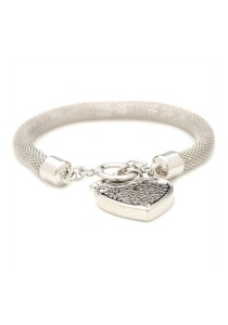 Caron Boutique Silver Mesh Floating Charm Bracelet