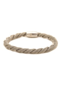 Caron Boutique Twisted Silver Mesh Bracelet