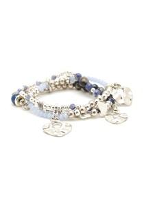 Caron Boutique Lapis Lazuli Stones Sterling Bracelet