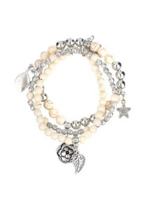 Caron Boutique Ivory Stones Charm Bracelet