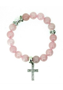 Caron Boutique Rose Quartz Crystal Bracelet