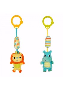BRIGHT STARTS Chime Along Friends (Lion & Hippo) - 1pcs (Blue)
