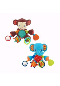 BRIGHT STARTS Bunch-O-Fun - Elephant & Monkey - 1pcs (Brown)