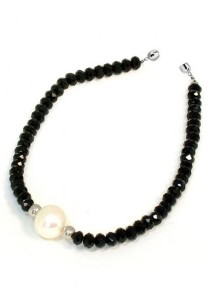 Classic Aimee Black Russian Crystal Bracelet Crafted by Angie