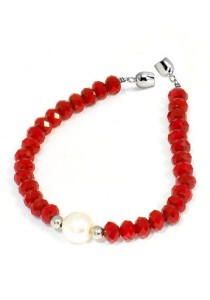 Classic Aimee Red Russian Crystal Bracelet Crafted by Angie