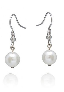 Classic Bellona Fresh Water Pearl Hook Earrings Crafted by Angie