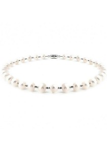 Classic Light Natalie Fresh Water Pearl Necklace Crafted by Angie