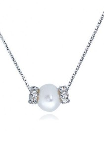 Clusterv SWAROVSKI Elements & Fresh Water Pearl Pendant Necklace