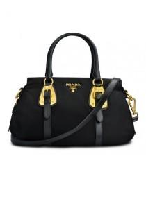 Prada Tessuto Nylon Convertible Top Handle Bag BN2864 (Nero)
