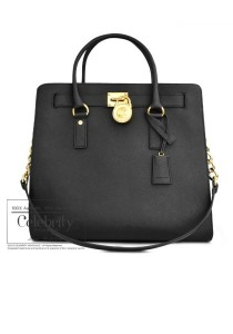 Michael Kors Hamilton Large Saffiano Leather Tote 30S2GHMT3L (Black)