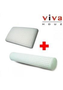 Viva Houz Combo 1: Rubber Foam Pillow Deluxe 1x + Rubber Foam Bolster 1x