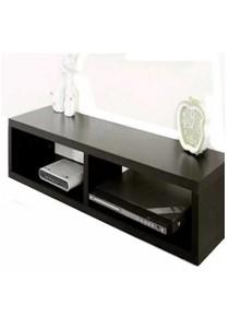 80cm x 15cm Compartment Wall Shelf (Black)