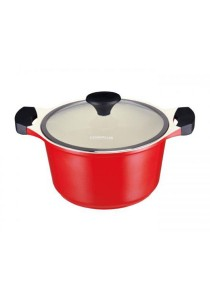 Cookplus Ceramic Casserole 24cm - Red