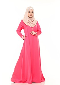 Zeitoun Galleria Ayesha Jubah in Coral Red