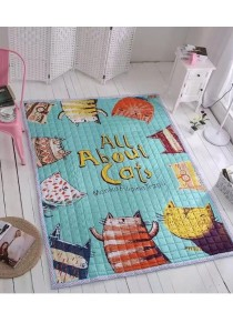 Cozy Oriental Cartoon Kids & Baby Crawling Cotton Rugs Carpet - All About Cats