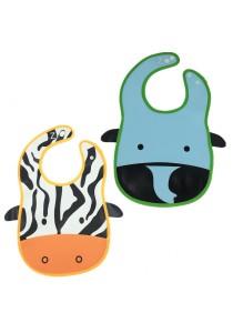 PVC Baby Bib (Wipe-clean Quality) - BB04 (Elephant-Cow)