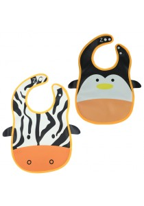 PVC Baby Bib (Wipe-clean Quality) - BB04 (Cow-Penguin)