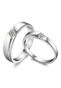 Vivere Rosse Be Mine 18K White Gold Plated Ring CR0001