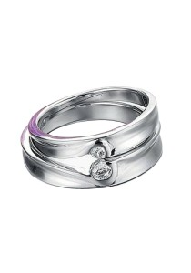 Vivere Rosse Fate 18K White Gold Plated Couple Ring (Female Ring) CR0003-F