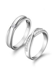 Vivere Rosse Elegant 18K White Gold Plated Ring (Male Ring) CR0004
