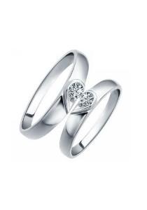 Vivere Rosse My Sweet Heart 18K White Gold Plated Couple Ring (Female Ring) CR0018