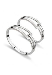 Vivere Rosse Knot 925 Sterling Ring (Silver) CR0021-SS