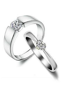 Vivere Rosse Love Story 18K White Gold Plated Female Ring (Silver) CR0024