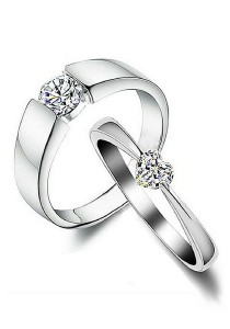 Vivere Rosse Love Story 925 Sterling Silver Couple Ring/Engagement Ring (Female Ring) CR0024-SS