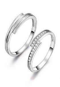 Vivere Rosse Happiness 925 Sterling Silver Couple Rings (Female Ring) CR0026