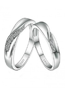 Vivere Rosse Journey of Love 925 Sterling Silver Couple Rings (Male Ring) CR0027