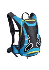 FASHION TEE Unisex Men Women Outdoor Sports Cycling Riding Backpack Durable Bag 12L (Light Blue)