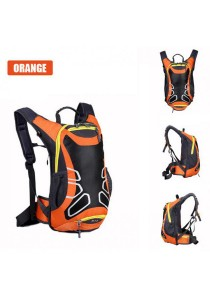 FASHION TEE 12L Cycling Riding Backpack Durable Bag (Orange) + Free Sip-n-Spray 600ml (Green)