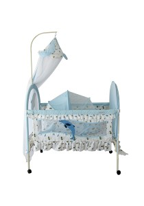 Sweet Heart Paris CT366-443 Baby Cot (Blue)