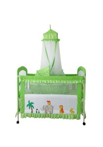 Sweet Heart Paris CT368-K55 Baby Cot (Green)