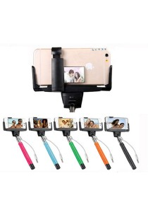 D09 Monopod with Remote Control and Mirror Black