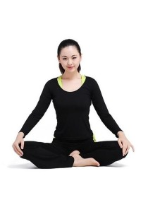 [OEM] 3 Piece Yoga Dance Suit (Black)