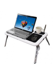 [OEM] E-Table Portable Foldable Laptop Table with Cooling System