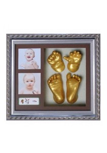[OEM] Creative DIY 3D Baby Hand Footprint Kit with Photo Frame