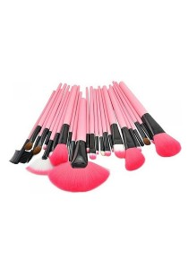 [OEM] 24-pc Professional Make-up Brush Set (Pink)