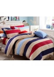 [OEM] 3 in 1 Queen Size Bed Sheet (Stripe)