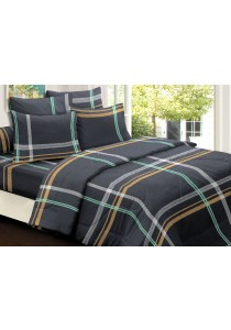 Essina 100% Cotton 620TC Fitted Bed Sheet set  Deep Sea 28cm - Queen
