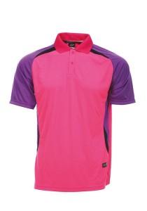Microfibre Polo T Shirt DFT 01 01 (Magenta)