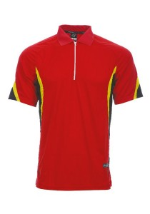 Microfibre Polo T Shirt DFZ 04 02 (Red)