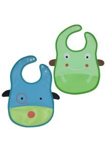 PVC Baby Bib (Wipe-clean Quality) - BB04 (Frog-Dog)