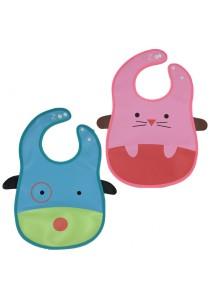 PVC Baby Bib (Wipe-clean Quality) - BB04 (Mouse-Dog)