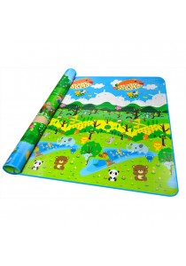 Double Sided Printed Toddler Crawling Mat With Educational Information (Animal world & Plant world)